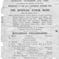 1943 : Concert Programme