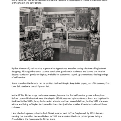 More about Riches' Grocery Store