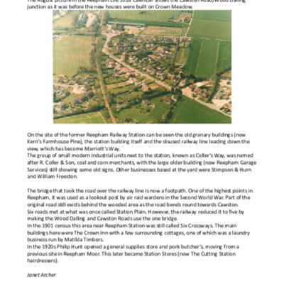 Changes to Cawston Road/Wood Dalling junction